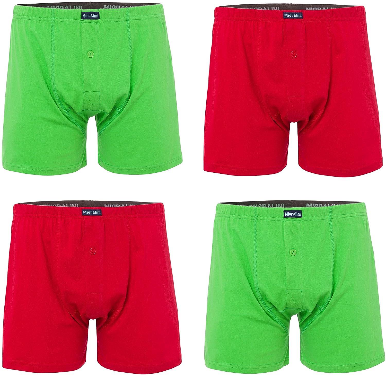 MioRalini Herren Boxershort Weite Beinöffnung Farbig 4er Set