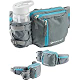 Aquatic Way Waist Bag Fanny Pack with Water Bottle Holder for Men Women Running Hiking Travel Biking - Fit All Phone Sizes Wa
