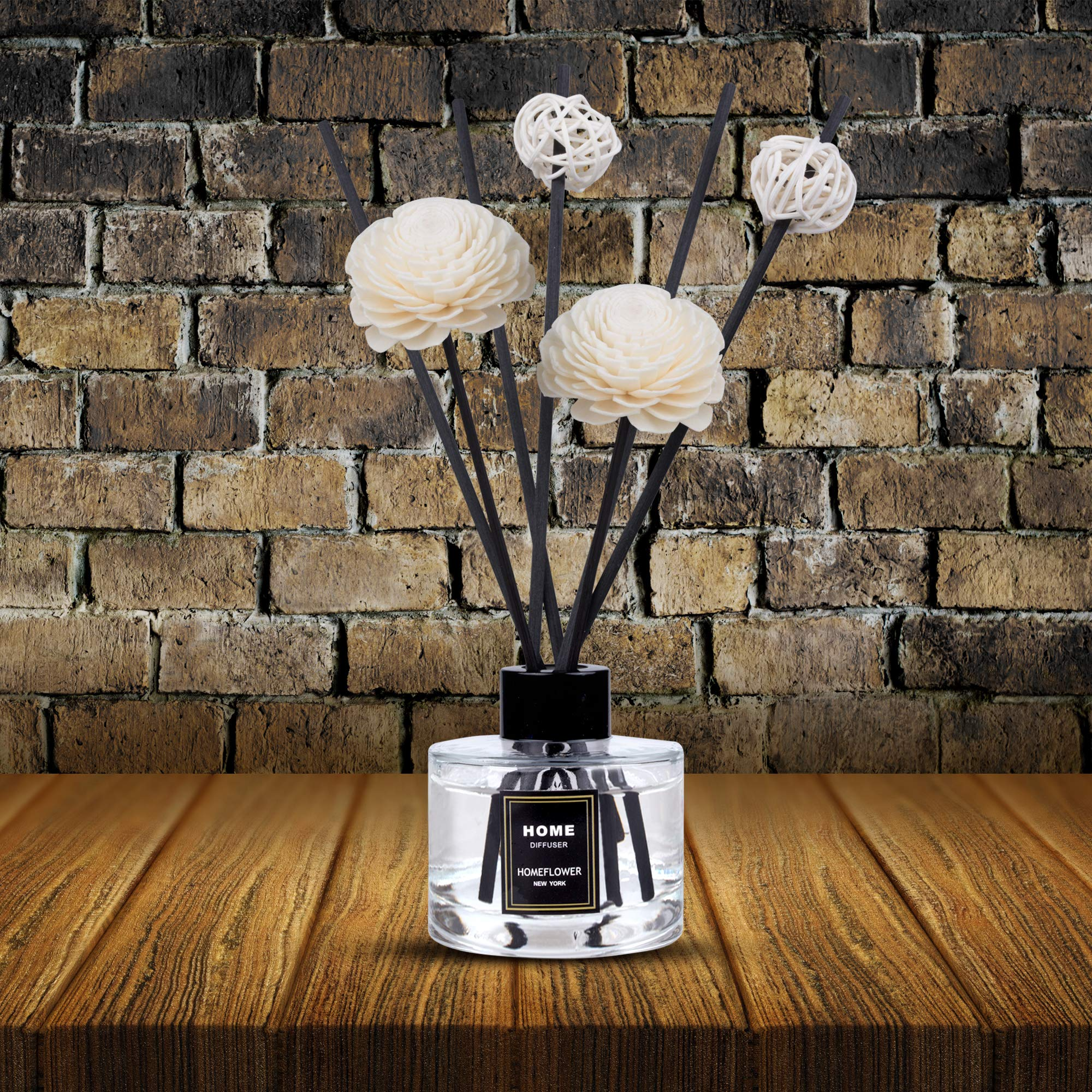 HomeFlower Reed Diffuser Set Lavender: Scent Sticks & Sola Flowers Included - Scented Liquid Fragrance Oil - Room Diffusers for Home or Bathroom - Made with FreshScent Premium Essential Oils - 4 oz by HomeFlower (Image #7)