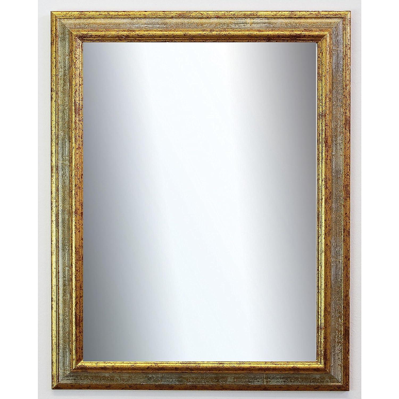 Online Galerie Bingold Spiegel Wandspiegel Badspiegel Flurspiegel Garderobenspiegel - Über 200 Größen - Bari Grau Gold 4,2 - Außenmaß des Spiegels 60 x 100 - Wunschmaße auf Anfrage - Antik, Barock