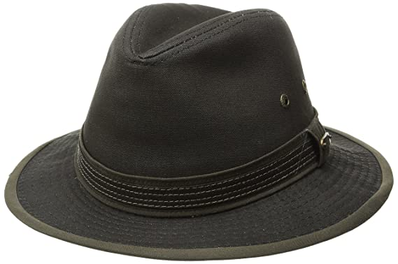 size 40 6c3d6 0ccee Stetson Men s Cotton Canvas Safari Hat, Brown Medium