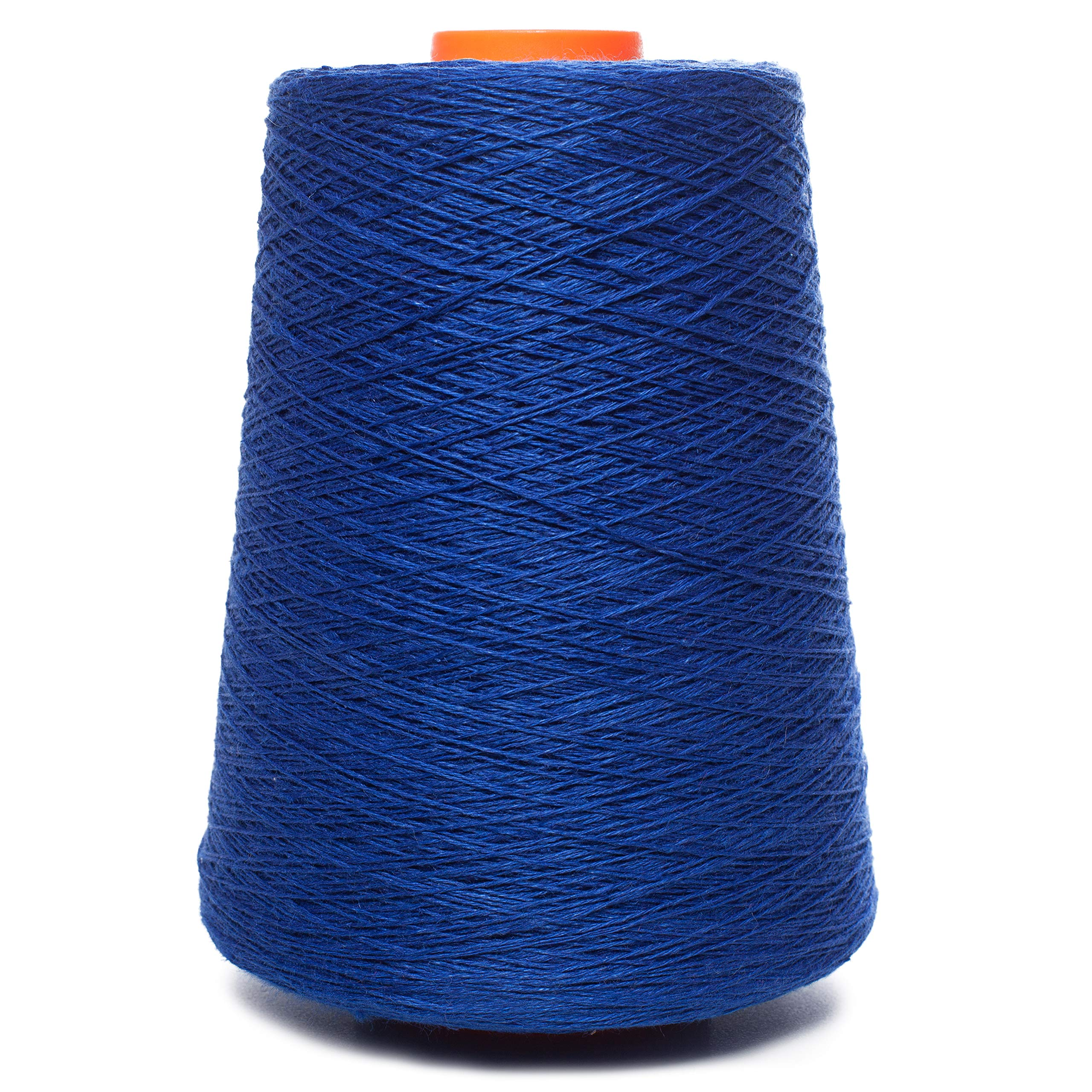 Linen Yarn Cone - 100% Flax Linen - 1 LBS - Ink Blue Color - 3 PLY - Sewing Weaving Crochet Embroidering - 3.000 Yards