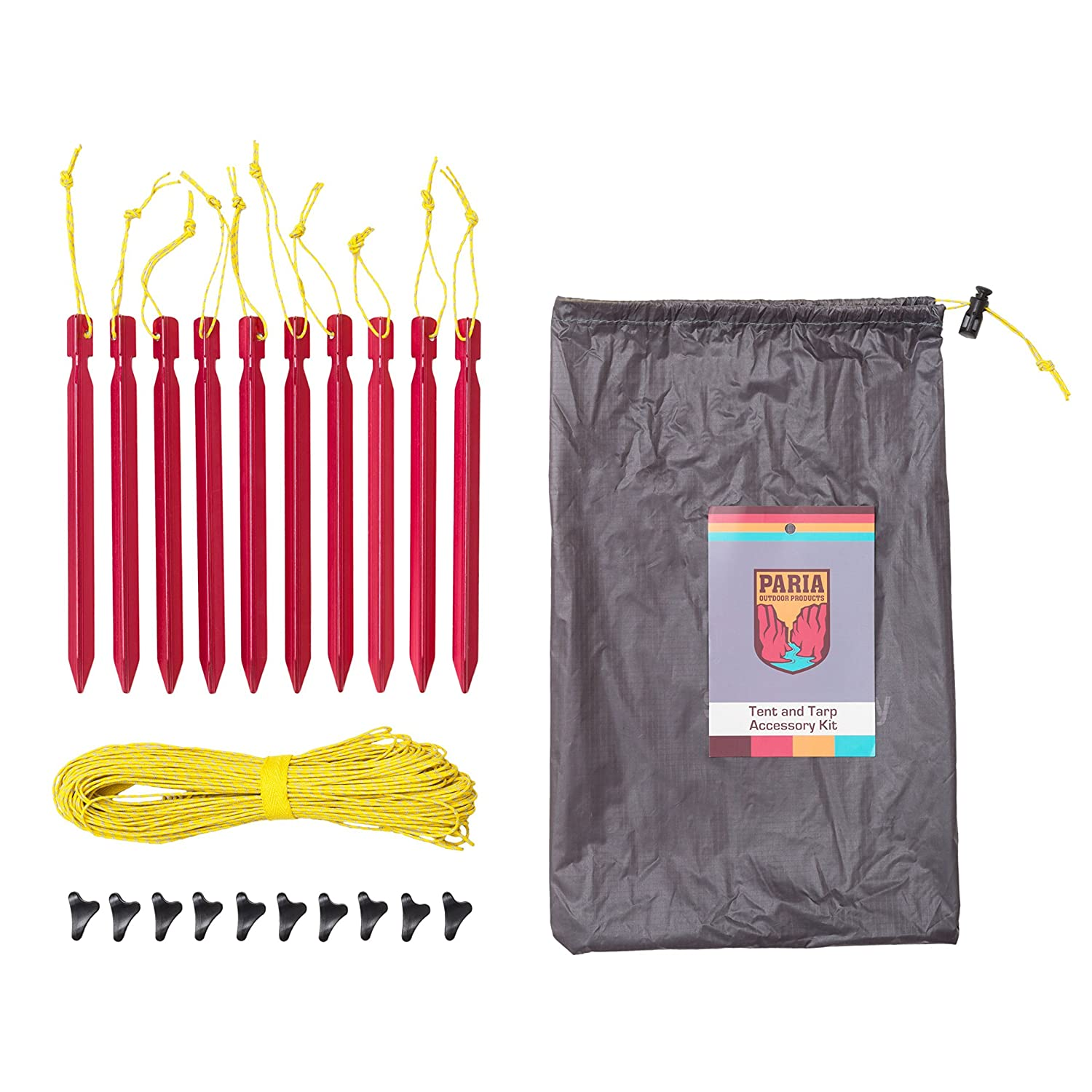 Amazon.com Paria Outdoor Products Tent and Tarp Accessory Kit Ultralight and Strong Dyneema Guy Line Micro-Lok Adjuster and Aluminum Alloy Stake Kit ...  sc 1 st  Amazon.com & Amazon.com: Paria Outdoor Products Tent and Tarp Accessory Kit ...