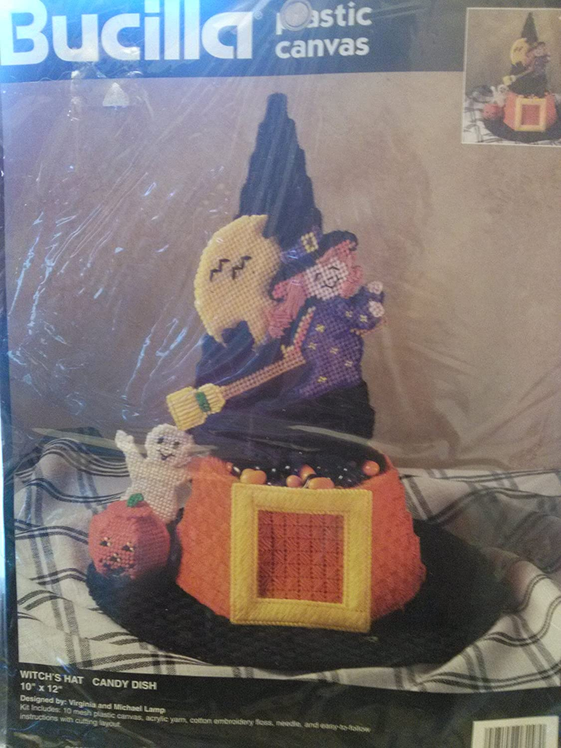 Bucilla Witch's Hat Candy Dish Plastic Canvas 6158