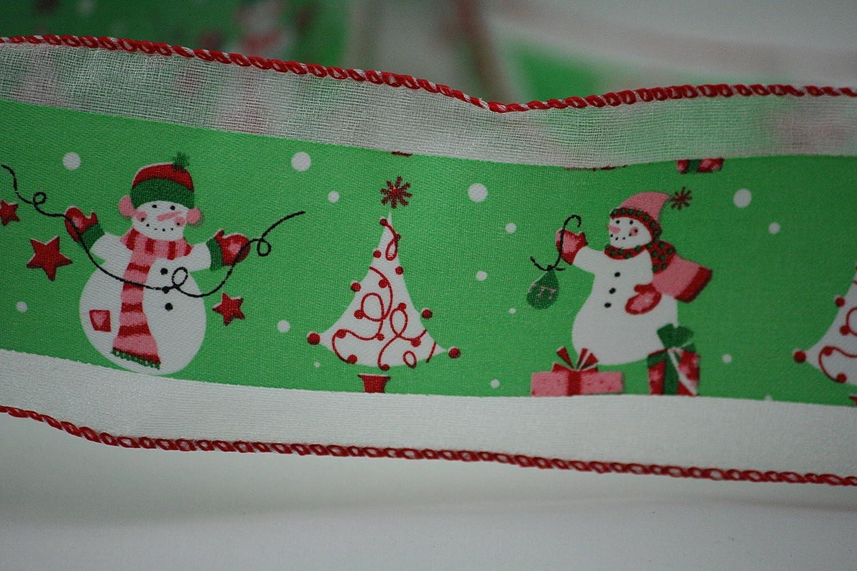 YARD THE SNOWMAN TV CHARACTER CHRISTMAS FESTIVE GROSGRAIN RIBBON