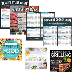 Pressure Cooker Cheat Sheet Cooking Times Chart Magnet Accessories for Refrigerator, Kitchen Cook books, Magnetic Cooking Food Temperature Guide for Quick Reference | Compatible with Instant Pot +more