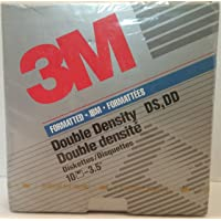 """3M Double Sided Double Density 3.5"""" Diskette Floppy Disk Box of 10"""