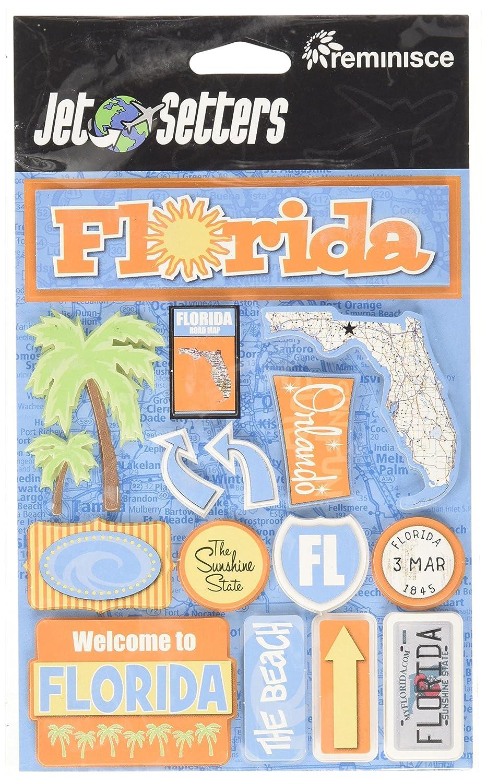 Florida Unbekannt Erinnerung Jet Setter 2/3-dimensionale Aufkleber