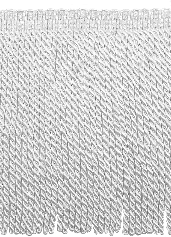 9 Inch Long White Bullion Fringe Trim 15 Ft // 4.5 Meters Style BFS9 Color: A1 D/ÉCOPRO 5 Yard Value Pack Basic Trim Collection