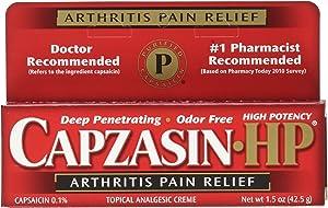 Capzasin-HP Arthritis Relief Topical Analgesic Cream, 1 Percent Capsaicin, 1.5 Ounce Tubes (Pack of 4)