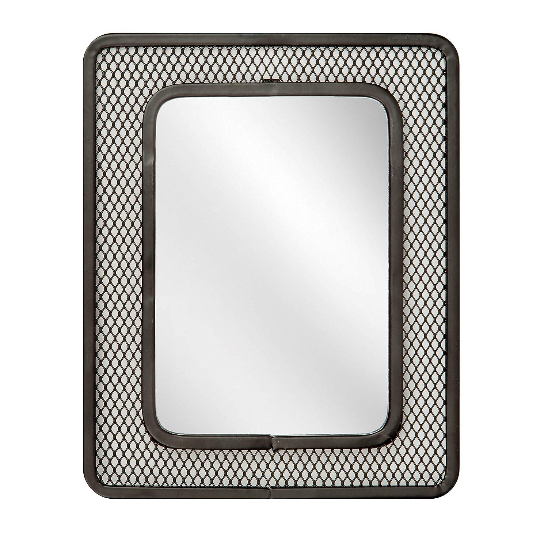 5.51 x 0.25 x 6.71 Purple Honey-Can-Do BTS-06586 Accessory Magnetic Mesh Mirror