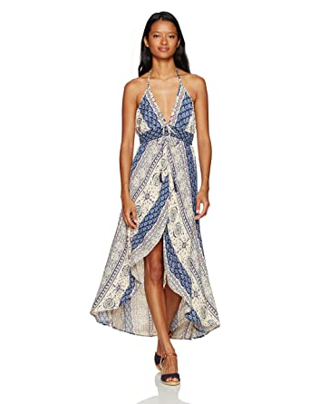 9a7c8fc172e Amazon.com  Angie Women s Printed Maxi Romper  Clothing