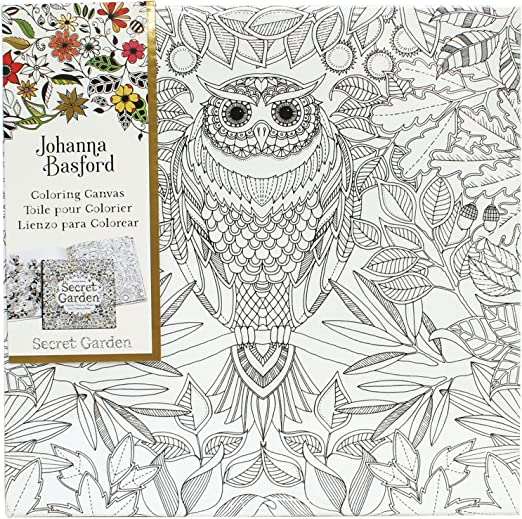 - Amazon.com: Art Alternatives Johanna Basford Secret Garden Coloring  Canvas-Owl: Arts, Crafts & Sewing