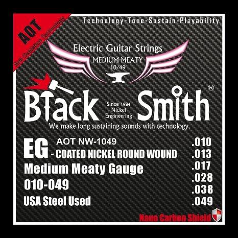 Black Smith 10-49 Coated-Juego de cuerdas para guitarra eléctrica