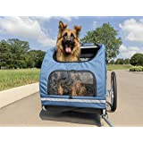 PetSafe Happy Ride Aluminum Dog Bike Trailer - Durable Frame - Easy to Connect and Disconnect to Bicycles - Includes Three St