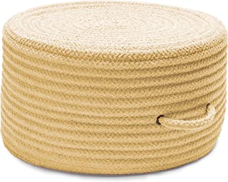 product image for Solid Chenille Pouf U833 Ottoman