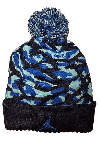 Amazon.com  Nike Jordan Boys Winter Cuffed Beanie with Pom (8 20 ... 412bca194e26