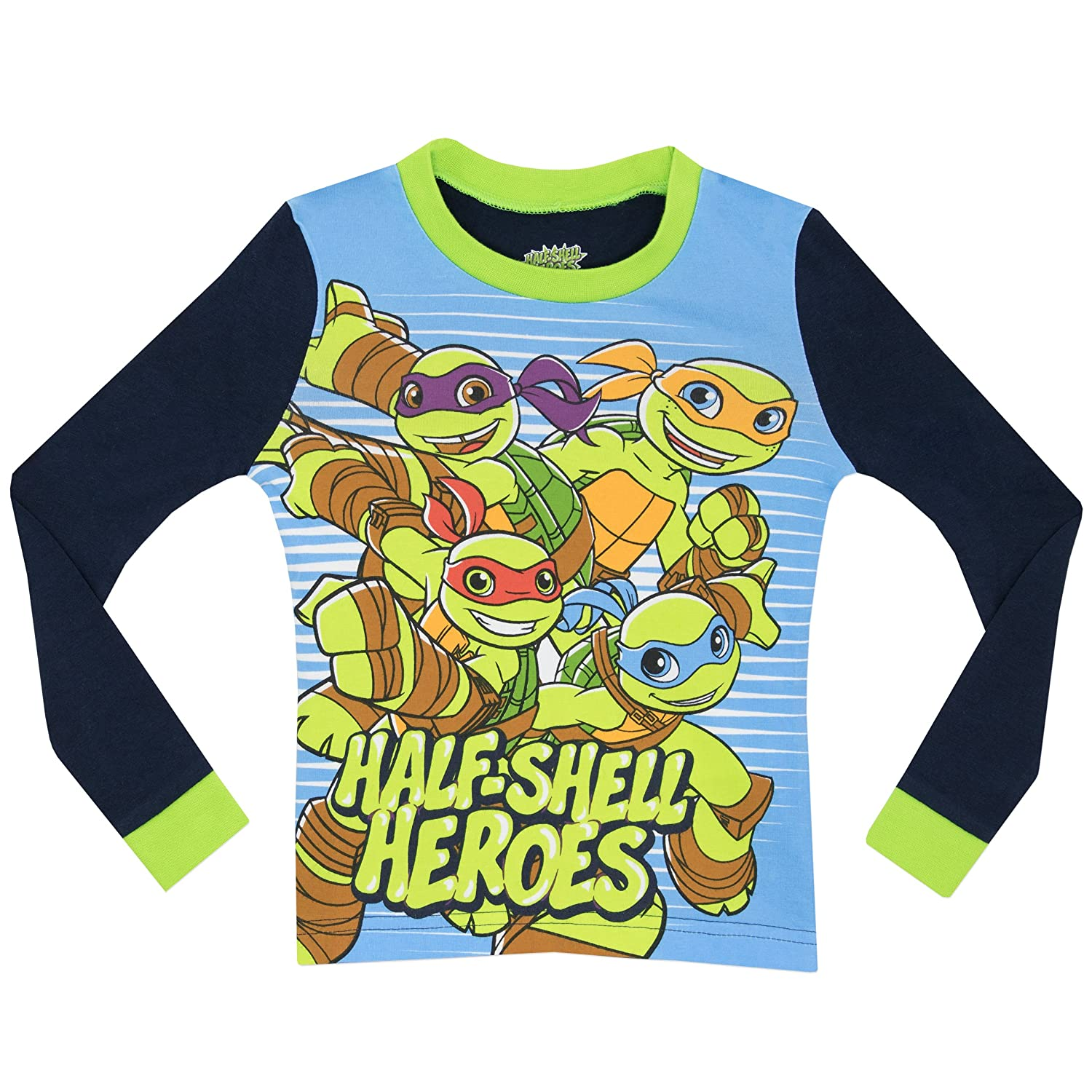 016c04eb65 Teenage Mutant Ninja Turtles Jungen Half Shell Heroes Schlafanzug - Slim  Fit: Amazon.de: Bekleidung