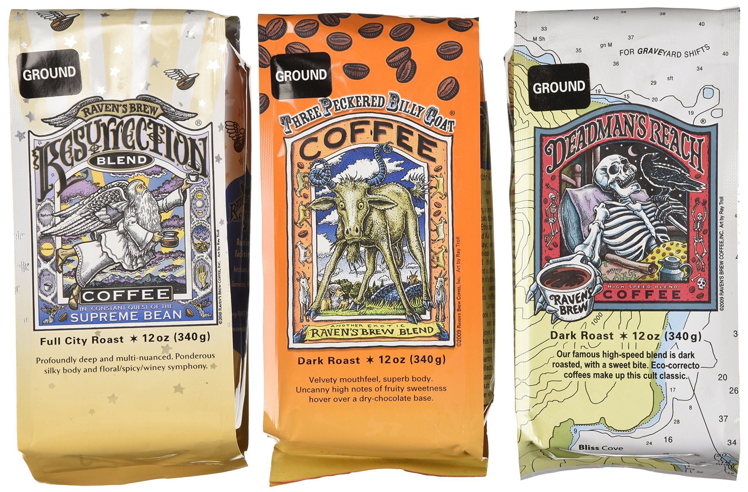 Raven's Brew Ground Coffee (Auto Drip) Variety Pack by Raven's Brew