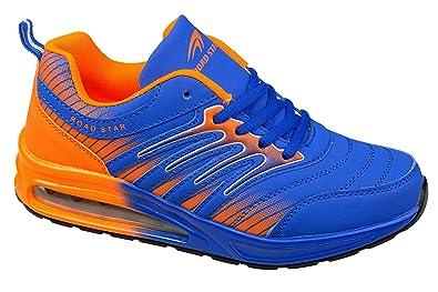 GIBRA® Sportschuhe, sehr leicht und bequem, neongrün/blau, Gr. 38