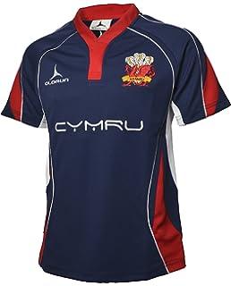1b6c3e5d261 Welsh Rugby Supporters Shirt Blue Away Jersey S-XXXXL Olorun Wales Rugby  Shirt