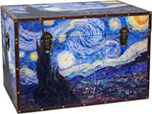 Oriental Furniture Van Gogh's Starry Night Trunk