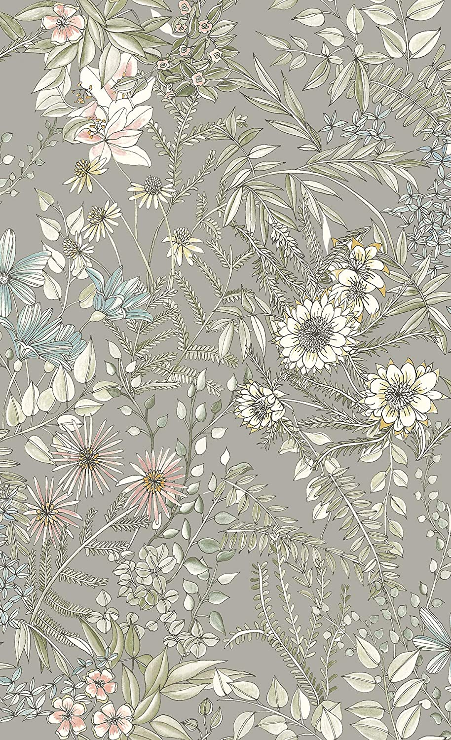 A Street Prints 2821 12903 Full Bloom Beige Floral Wallpaper