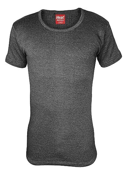 HEAT HOLDERS - Hombre Algodon Invierno Manga Corta Camiseta Interior Termica: Amazon.es: Ropa y accesorios