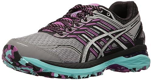 Womens GT-2000 5 Trail Runner, Aluminum/Silver/Orchid, 5.5 M US Asics