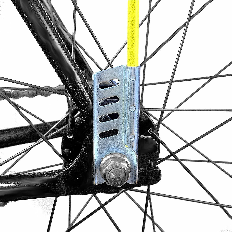 plegable bander/ín de bici 4 piezas longitud 160 cm bander/ín de bicicleta Cycley resistente Heavy Duty trasportable p.ej. en coche bandera de seguridad para ni/ños