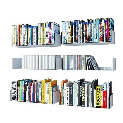 Wallniture U Shape Bookshelf Wall Mountable Metal CD DVD Storage Rack White Set of 6  sc 1 st  Amazon.com & Amazon.com: Wallniture U Shape Bookshelf Wall Mountable Metal CD DVD ...