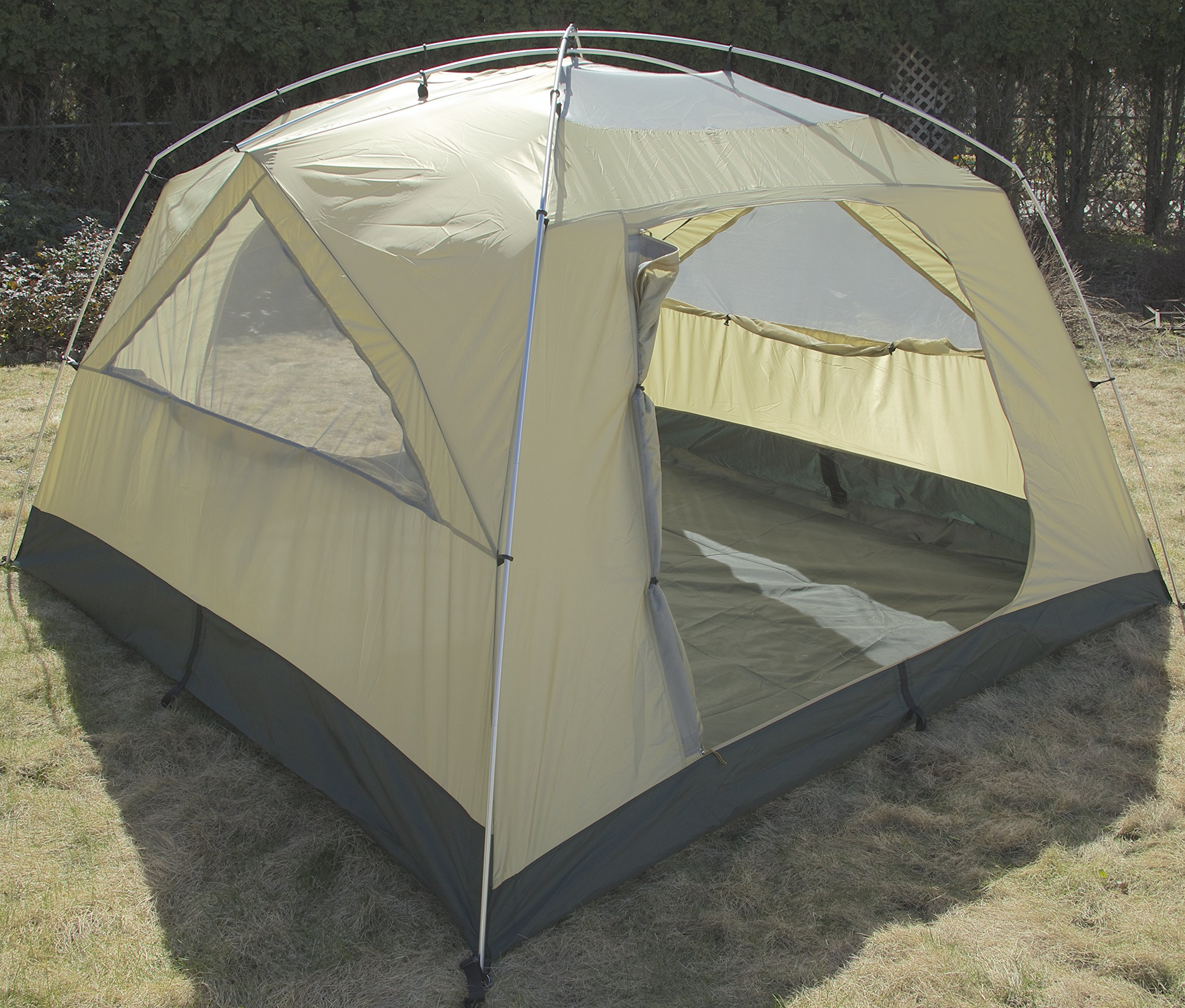 Camp Time Expedition Tent, Fast set-up, 100 square feet including vestibules, floor liner, awning poles, 7001-T6 aluminum, Designed for your cots-stools-tables,. by Camp Specialties (Image #3)