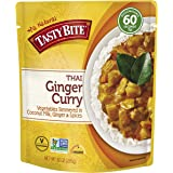 Tasty Bite Thai Entree Penang Ginger Curry 10 Ounce (Pack of 6), Fully Cooked Thai Entrée with Vegetables in Coconut…