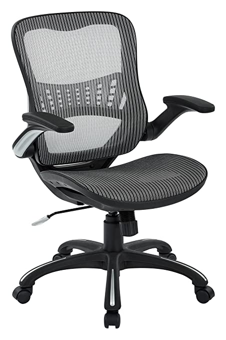 amazon com office star mesh seat back manager s chair grey