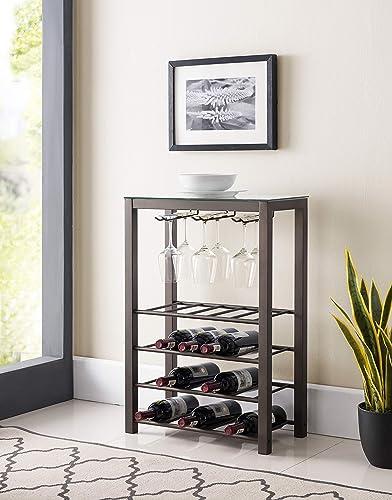 Kings Brand Furniture Calhan Free Standing Wine Rack Storage Table