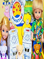 Barbie Dolls Shop at Toy Build-A-Bear Workshop Disney Frozen Barbie Parody Miworld Playset Toy Mall