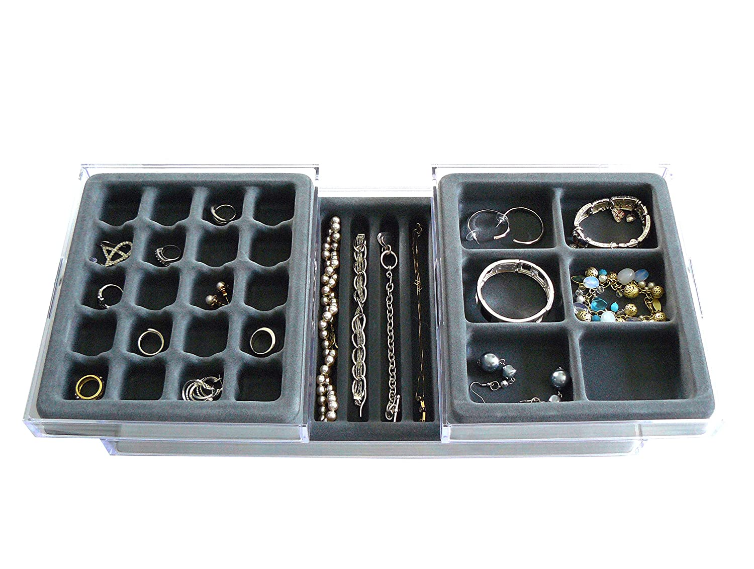 Amazoncom MultiPurpose Valet Jewelry Organizer with Velvet Tray