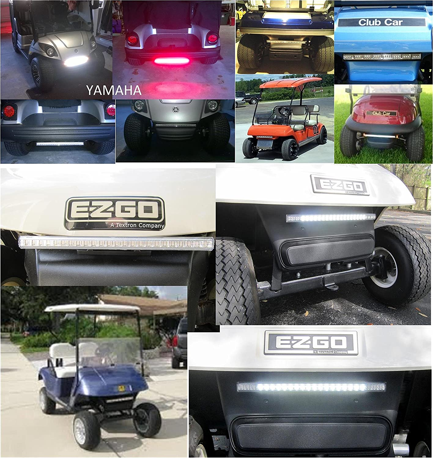 Golf Cart Led Light Kit Liteseasy Standard W Built In 2003 Club Car Ds Wiring Diagram Free Picture Meter Accessories Sports Outdoors