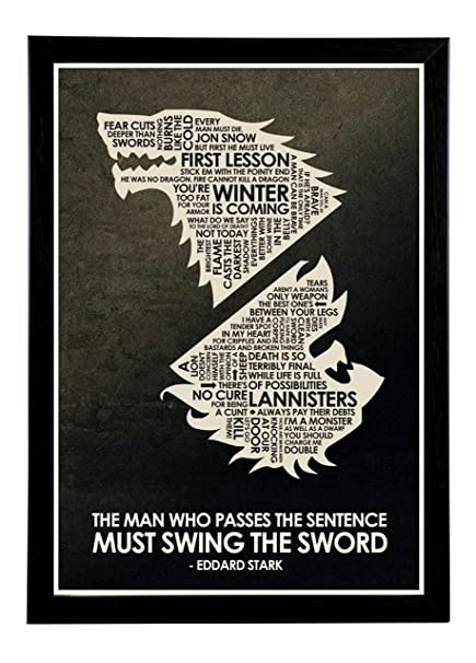 Game Of Thrones Framed Poster | Game Of Thrones Wall Poster With ...