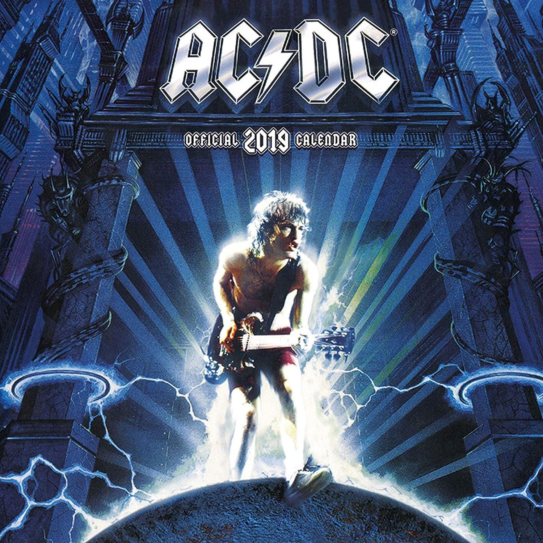 Calendario 2019 musica hard rock AC/DC Angus Young calendario da parete 30 x 30 cm EMKA EMKA112019