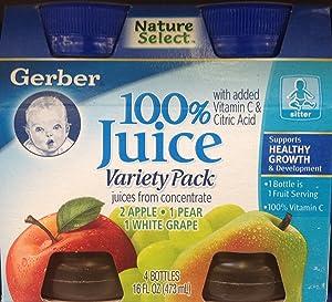 Gerber 100% Juice Variety Pack 16oz (Pack of 3)