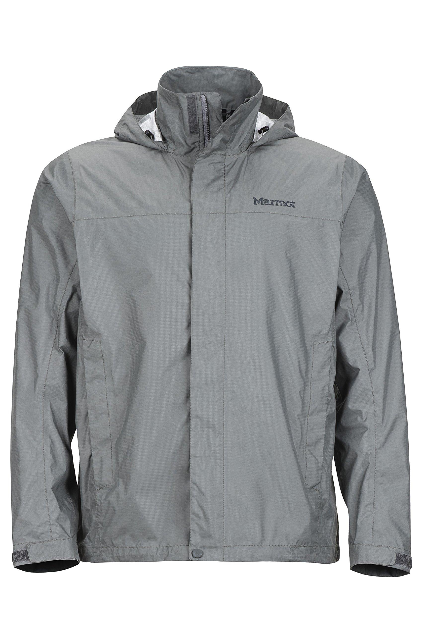 Marmot Men's PreCip Jacket, Gargoyle, S