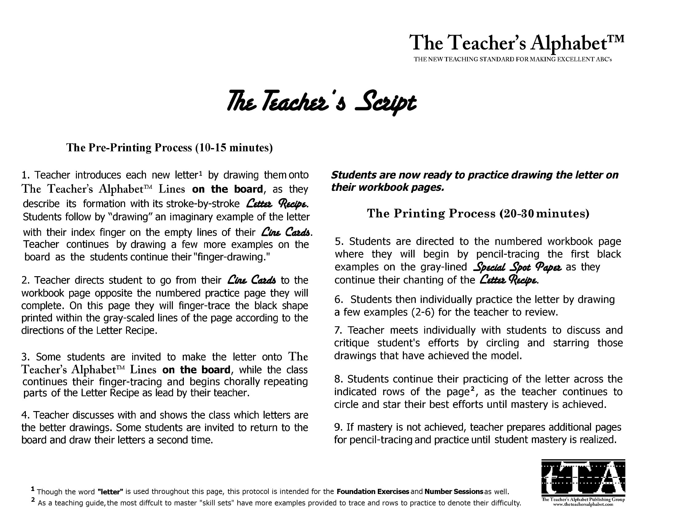 The Teacher's Alphabet Student Workbook #2 (Lower Case Letters and ...