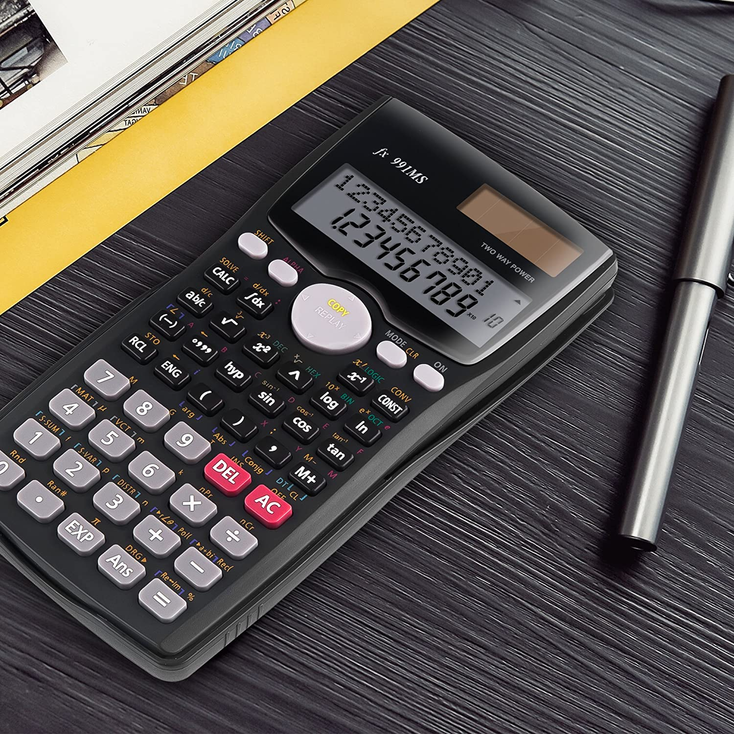 Scientific Calculators Kdt 2 Line Engineering Scientificcalculatorcircuitboardmadeinchinajpg Calculator Two Way Power Standard Function Home Kitchen