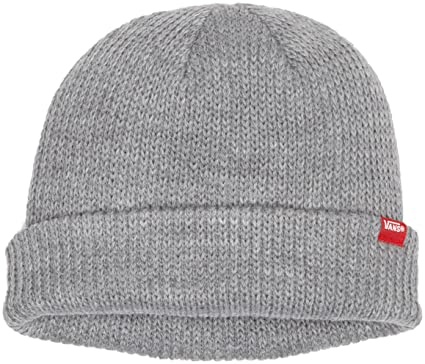 4f13d7ab906b68 Vans Men's Core Basics Beanie Hat, Heather Grey, One Size: Vans ...
