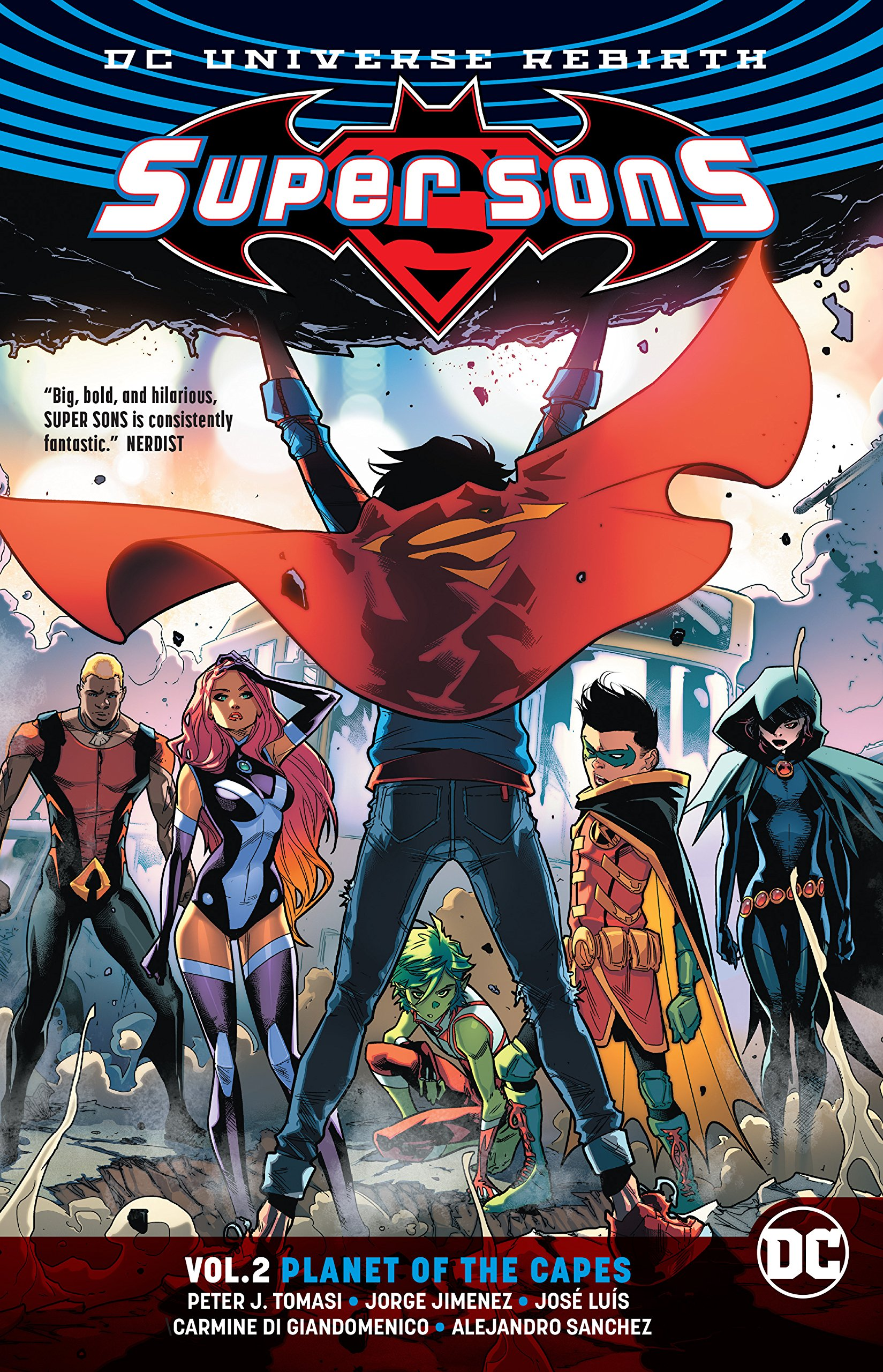 Image result for Super Sons Vol. 2: Planet of the Capes (Rebirth)