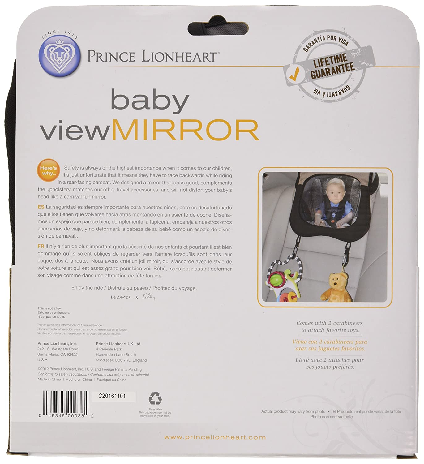 Amazon.com : Prince Lionheart Child View Mirror, Brown : Rear Facing Baby View Mirrors : Baby