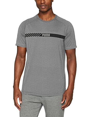 Puma Men's Active Tec T-Shirt, Medium Grey Heather, FR : S (