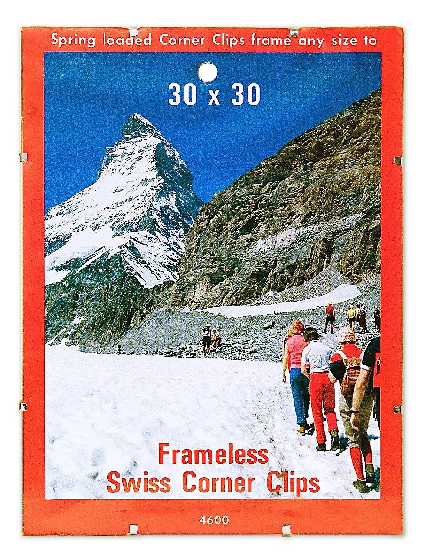 Amazon.com: BC Imports Swiss Corner Clips 30 in. x 30 in. silver ...