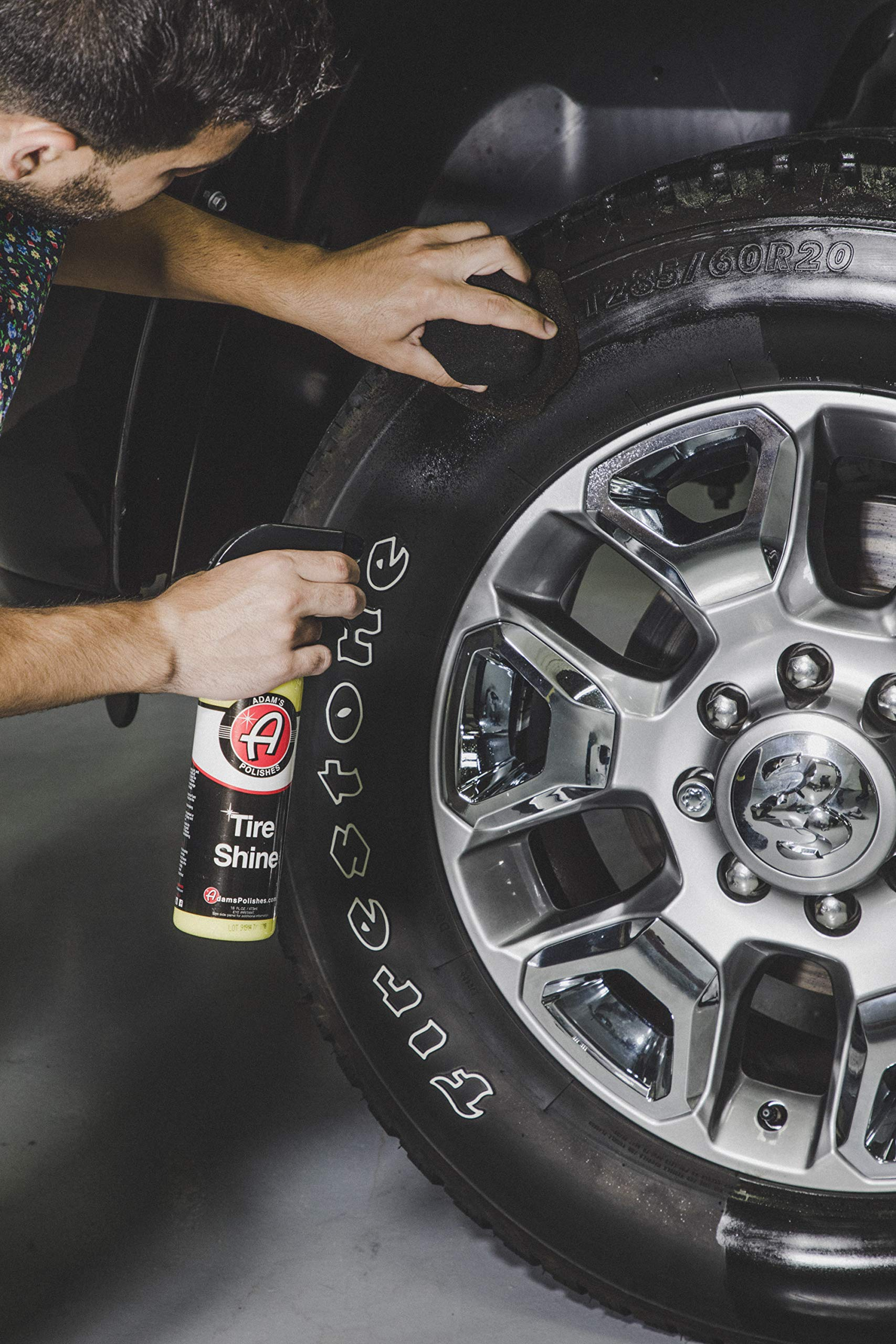 Adam's Hex-Grip Pro Tire Dressing Applicator - Ergonomic Design Makes Detailing Your Tires Easier - Mess Free Application Tire Dressings - Durable, Washable, and Reusable